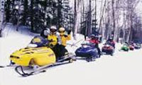Snowmobile trails in Winter located in Wisconsin great spot